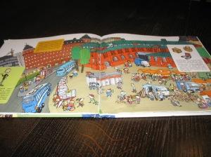 Carte despre oraşul Helsinki, pentru copii. Sunt prezentaţi inventatori şi invenţii, sub forma unei poveşti de bandă desenată.